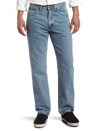 Lee Men's Regular Fit Straight Leg Jean, Light Stone, 40W x 30L ()