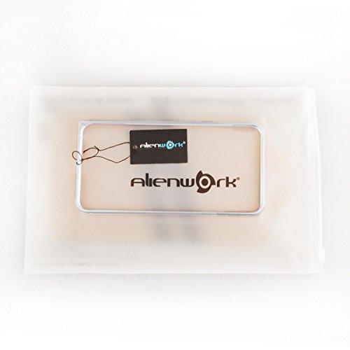 Alienwork Schutzhülle für iPhone 6 Plus/6s Plus Ultra-flach Hülle Case Bumper Aluminium silber AP6SP08-02