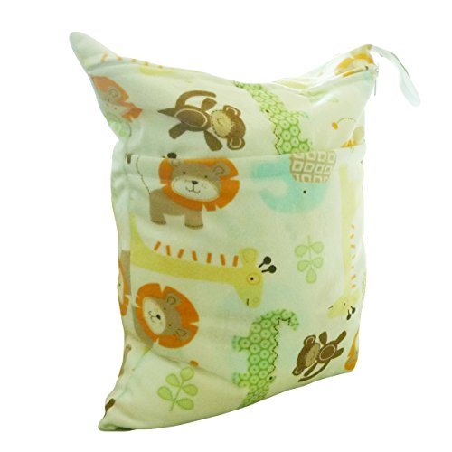 LOVE MY Solid Baby Wet and Dry Cloth Diaper Bag,(happy zoo)