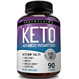Keto Diet Pills 1200mg (90 Capsules) Advanced Weight Loss Ketosis Supplement – Natural BHB Salts (beta hydroxybutyrate) Ketogenic Fat Burner, Carb Blocker, Non-GMO Product – Best Weight Loss Support Review
