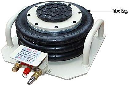 INTBUYING Pneumatic Jack Triple Bag Air Jack Pneumatic Lift Car Repair Fast Lifting Height 16 Inch 3 Ton Capacity Fast Lifting