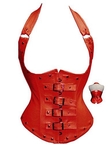 cideary mujeres gótico cintura Shaper undearbust deshuesada lencería Cincher shaper Top Rojo