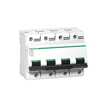 Schneider Electric A9N18479 Interruptor Automático Magnetotérmico C120H, 4P, 80A, curva C