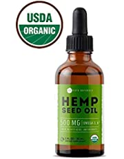Organic Hemp Seed Oil Drops 500mg by Kate Naturals - Premium Pain Relief Anti-Inflammatory & Joint Support, Perfectly Balanced Essential Fatty Acids Omega 3, 6. Easily Digestible, Non-GMO, Ultra-Pure