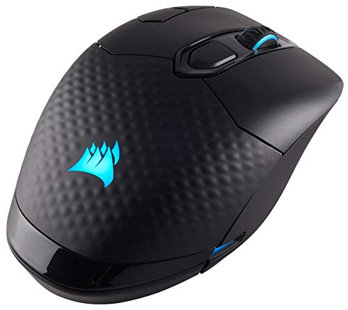 Corsair Dark Core RGB SE Performance Wired/Wireless Gaming Mouse with Qi Wireless Charging, Black, Backlit RGB LED…