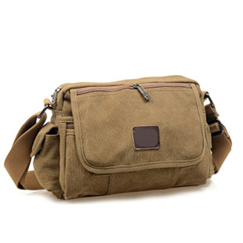 Männer Und Frauen Vintage-Leinwand Messenger Ipad Schulter Tote Sling College Tasche,D-26cm*8cm*20cm
