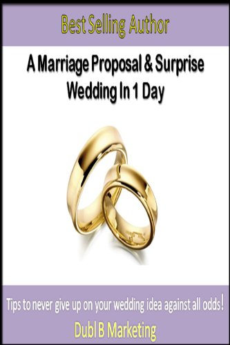 A Marriage Proposal and Surprise Wedding In 1 Day: Tips to never give up on your wedding idea against all odds ()