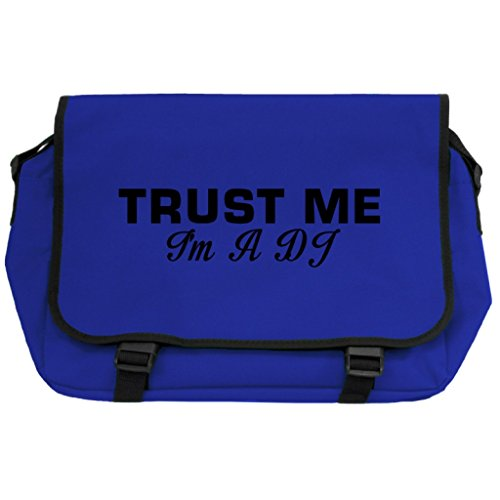 Trust Me I m A DJ Messenger Bag–Royal Blau