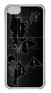iPhone 5C Case, Personalized Custom World Map 4 for iPhone 5C PC Clear Case by icecream design