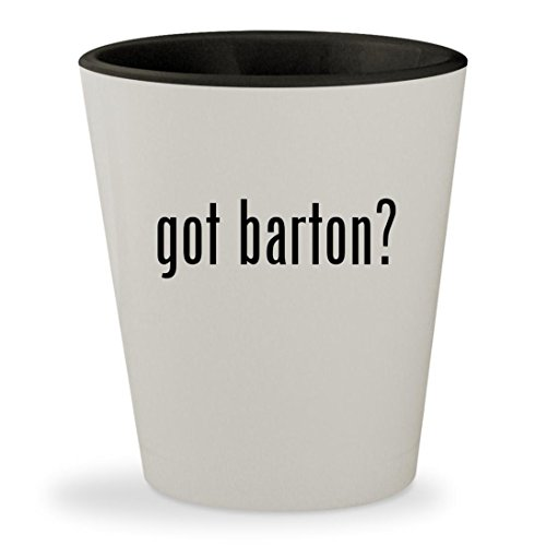 got barton? - White Outer & Black Inner Ceramic 1.5oz Shot (Clara Barton Costumes)