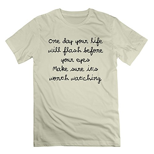 Price comparison product image GGifKCU Life Flash T Shirts For Men S Natural