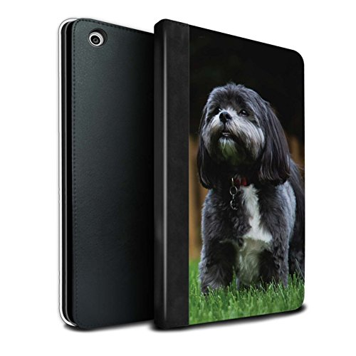 (STUFF4 PU Leather Book/Cover Case for Apple iPad Mini 1/2/3 Tablets/Shih Tzu Design/Popular Dog/Canine Breeds Collection)