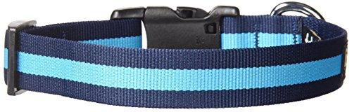 fabdog Classic Stripe Dog Collar Blue (Medium)