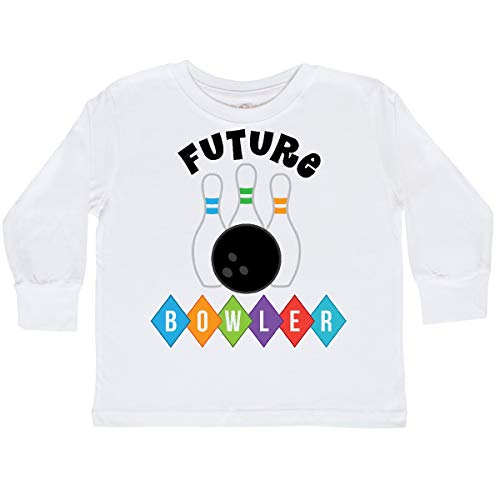 inktastic Future Bowler Bowling Pins Toddler Long Sleeve T-Shirt 4T White