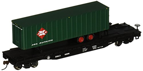 "Bachmann Industries 52' with 35' Piggyback Trailer B and O Railway Express Agency Flat Car, 6"", HO Scale from Bachmann Trains"