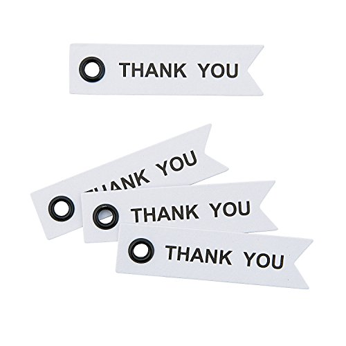 Fun Express - Thank You Eyelet Tags - Craft Supplies - Scrapbooking Embellishments - Misc Scrapbooking Embellishments - 40 Pieces