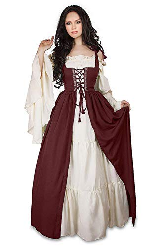 Newcos Boho Renaissance Costume for Women Halloween Irish Medieval Dress (S for $<!--$37.99-->