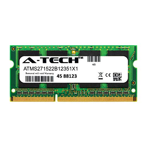 A-Tech 8GB Module for HP Envy 6-1010ea Laptop & Notebook Compatible DDR3/DDR3L PC3-12800 1600Mhz Memory Ram (ATMS271522B12351X1)
