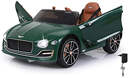 Jamara- Bentley Exp12 Auto Cavalcabile, Colore Verde, 460333