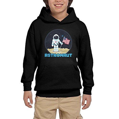 Hot Astronaut Nasa Moon Space Teen Boys Pullover Hoodie Fashion Pocket Sweatshirts for cheap
