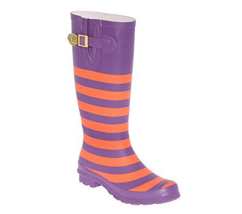 Orange Purple Rainboots and U Initial D Lillybee FxwZTT