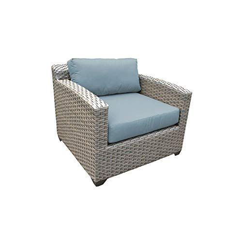 TK Classics Florence Outdoor Wicker Patio Club Chair in Spa