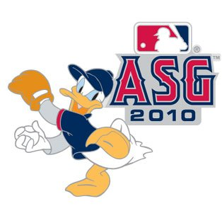 Pin All Game Star (2010 MLB All-Star Game / Disney's Donald Duck Pin)