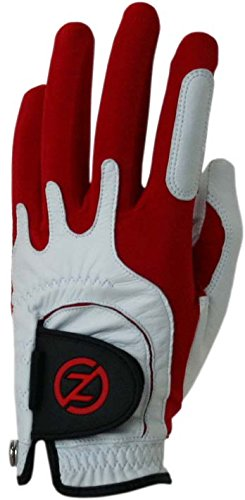 Zero Friction Men's Cabretta Premium Leather Golf Gloves, Left Hand, One Size Golf, Red ()