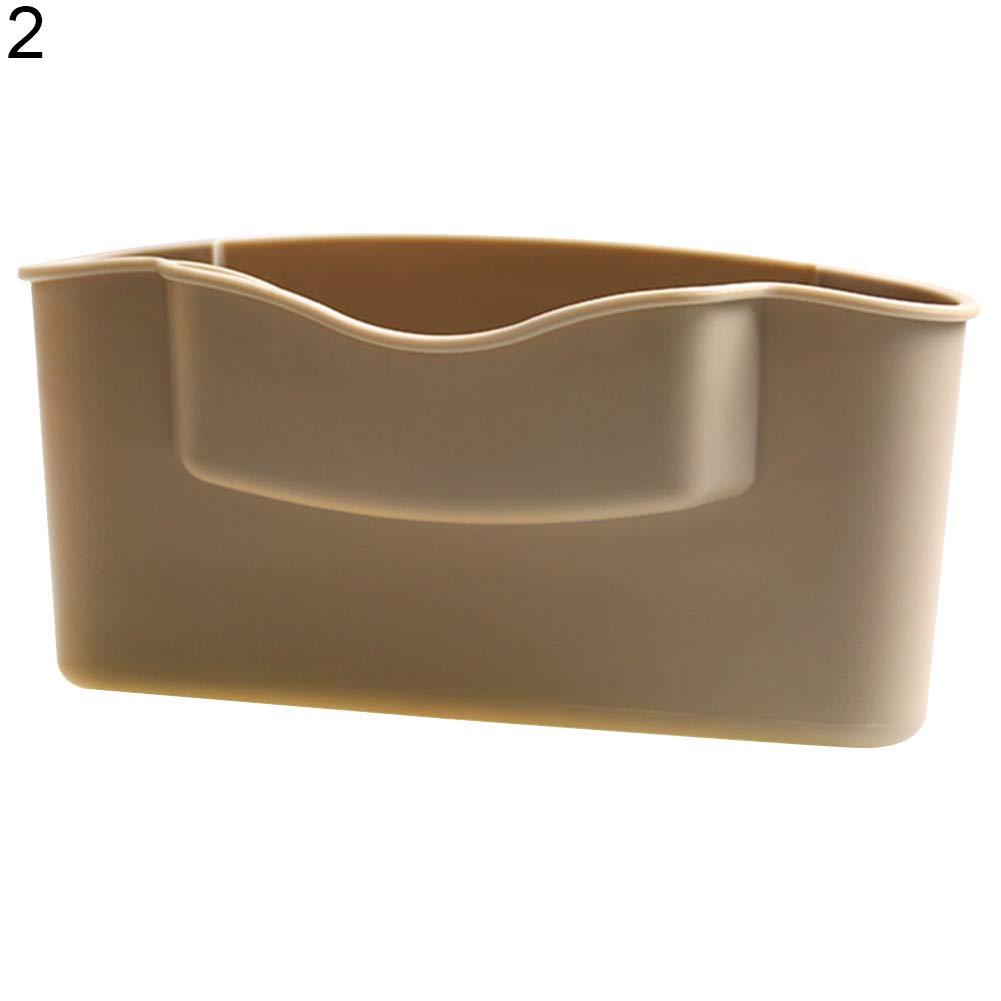 "Slendima Car Seat Mini Phone Storage Box Catcher Gap Filler Coin Sundries Collector Cup Holder - 6.50"" x 1.38"" x 3.54"" Beige"