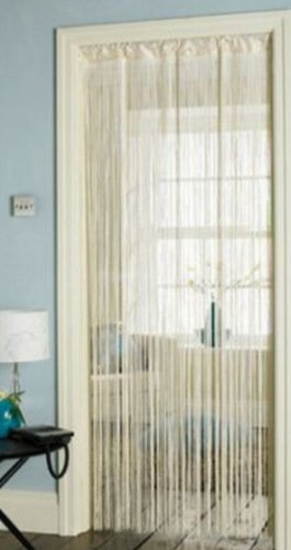 Door String Curtains Room Divider 90cm x 200cm 2 Colours Cream by