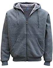 Zmart Australia Mens Women's Thick Zip-Up Hoodie w Sherpa Fur Winter Unisex Hooded Jacket Jumper