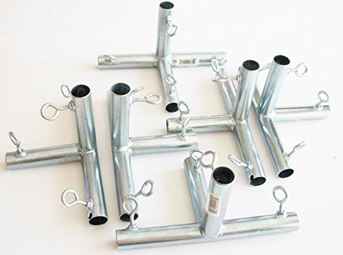 6pc (F4A) 3/4″ FLAT 4 WAY EDGE CANOPY FITTING / BATTING CAGE FITTING Review