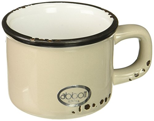 Abbott Collection Enamel Look Stoneware Espresso Cup, Grey by Abbott Collection