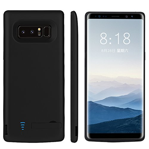 RUNSY Samsung Galaxy Note 8 Battery Case, 6500mAh Rechargeable Extended Battery Charging Case, External Battery Charger Case, Backup Power Bank Case with S-Pen Hole (Black)