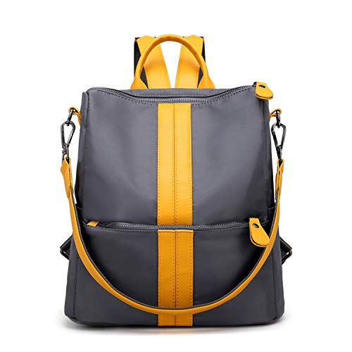 Aancy 2018 New Fashion Women Backpack Nylon Oxford Spinning Multifunction Big Bag Famous Designer Chain Shoulder Bag,Yellow,29x16x31CM
