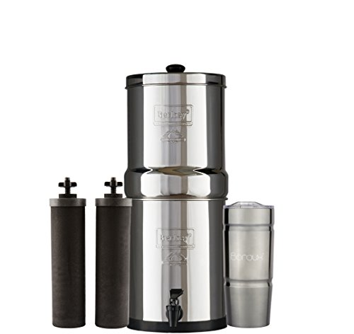 Bundle Includes: Travel Berkey Water Filter System with 2 Bl