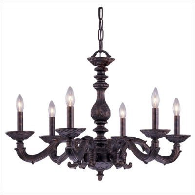 (Crystorama 5126-VB Abbie Wrought Iron Mini Chandelier - 5126,Venetian Bronze)