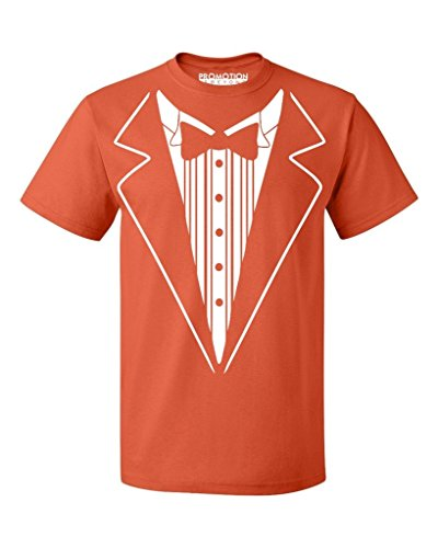P&B Tuxedo White Funny Men's T-Shirt, 2XL, Orange ()
