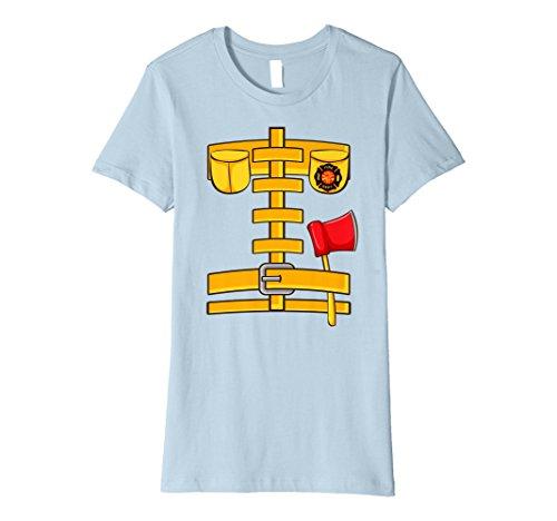 Womens Fireman Uniform Firefighter Costume Shirt | Halloween Gift Small Baby (Woman Fireman Halloween Costume)