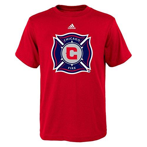 MLS Chicago Fire Boys 8-20 Primary Logo Short Sleeve Tee, Red, Medium Trade Soccer T-shirt