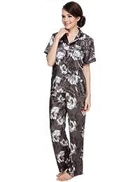 Women's Short Sleeve Classtic Satin Pajama Set