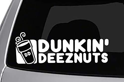 Seek Racing Dunkin Deez Nuts Decal Cool CAR Truck Bumper Sticker - Truck Bumper Nuts
