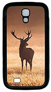 samsung galaxy s4 case,custom samsung galaxy s4 i9500 case,TPU Material,Drop Protection,Shock Absorbent,Customize your own cell phone case pattern,black case,Milu deer looking at distance 2