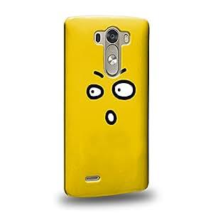 Case88 Premium Designs Art Emoticon Kawaii Surprised Icon Carcasa/Funda dura para el LG G3