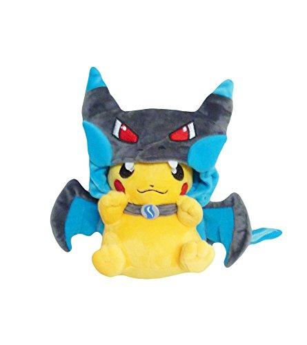 [Pokemon: 7-inch Mascot Pikachu Plush Doll - Smile Charizard X] (Charizard Costume For Pikachu)