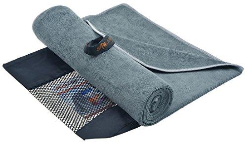 SUNLAND Travel Sports Yoga Gym Bath Towel Ultra Absorbent Microfiber Towels (dark grey, 32 inch x 60 inch)