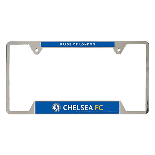 WinCraft Int'l Soccer English Premiership Chelsea Metal License Plate Frame