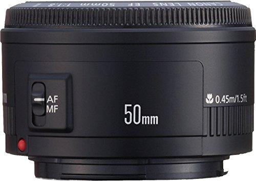 Canon EF 50mm f/1.8 II Standard AutoFocus Fixed Lens – White Box(Bulk Packaging)