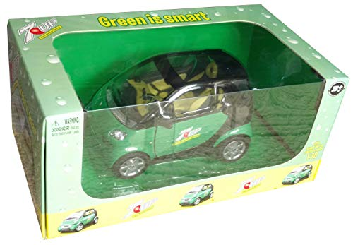 Green is Smart 2010 Smart for Two 7up Passion Coupe 1:18 Scale Die-cast Model Car