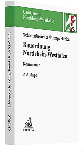 Bauordnung Nordrhein Westfalen Landesrecht Nordrhein Westfalen